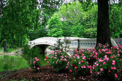 Bow Bridge In Springtime Art Print