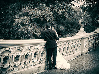 Wedding Gown Photograph - Bow Bridge Romance by Jessica Jenney