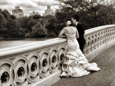Wedding Gown Photograph - Bow Bridge Wedding by Jessica Jenney