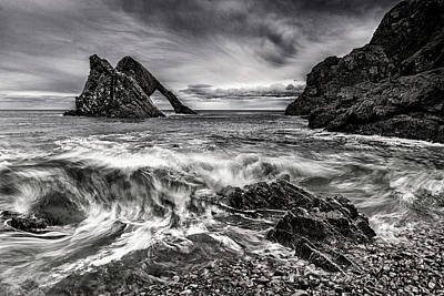 Photograph - Bow Fiddle Rock In Mono by John Frid