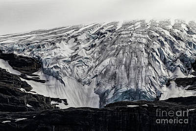 Photograph - Bow Glacier - Columbia Icefields by Brad Allen Fine Art