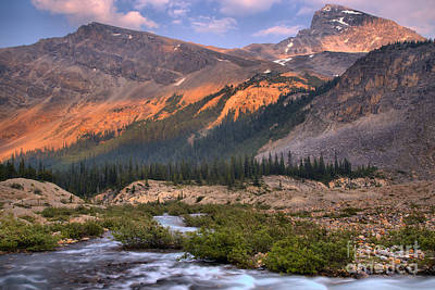 Photograph - Bow Glacier Creek Sunset by Adam Jewell