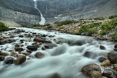 Photograph - Bow Glacier Falls Creek by Adam Jewell
