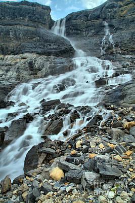 Photograph - Bow Glacier Falls Portrait by Adam Jewell