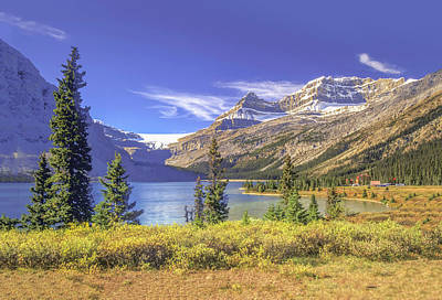 Art Print featuring the photograph Bow Lake 2005 01 by Jim Dollar