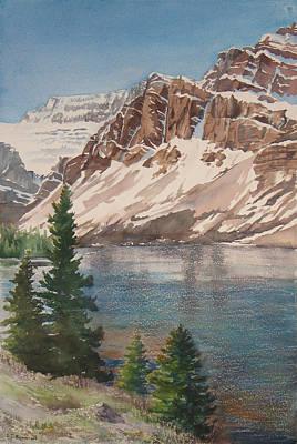 Bow Lake Alberta Art Print by Debbie Homewood