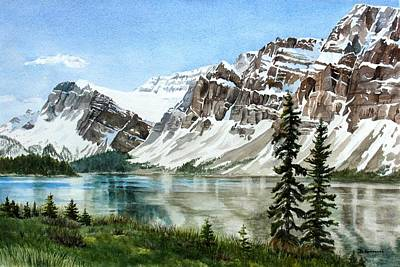Mountains Painting - Bow Lake Alberta No.2 by Debbie Homewood