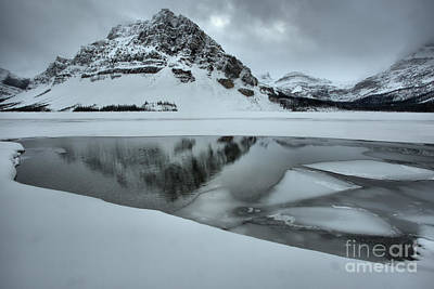 Photograph - Bow Lake Icebergs And Reflections by Adam Jewell
