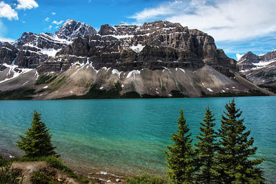 Photograph - Bow Lake In Banff National Park Canada by Dave Dilli