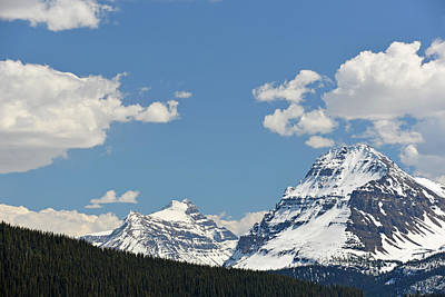 Photograph - Bow Lake Mountains by Ginny Barklow