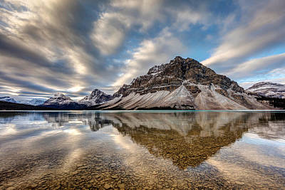 Photograph - Bow Lake Reflection by Pierre Leclerc Photography