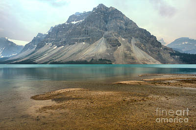 Photograph - Bow Lake Sand Bar by Adam Jewell