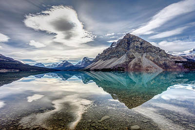 Photograph - Bow Lake Sky by Pierre Leclerc Photography