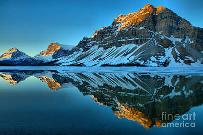 Photograph - Bow Lake Sunrise Reflections by Adam Jewell