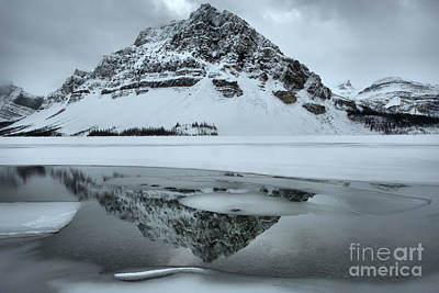 Photograph - Bow Lake Winter Serenity by Adam Jewell
