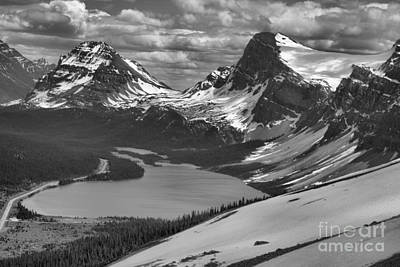 Photograph - Bow Look Overlook Black And White by Adam Jewell