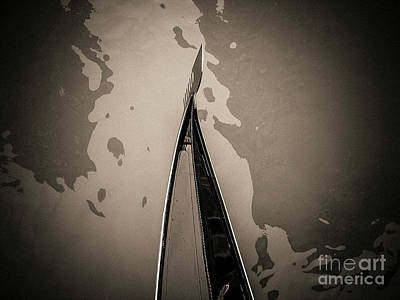 Bow Of A Gondola, Venice, Italy, Europe Art Print