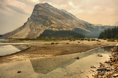 Photograph - Bow Peak Reflections In Bow Lake by Adam Jewell