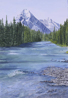 Painting - Bow River by Debbie Homewood