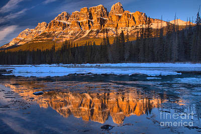 Photograph - Bow River Sunset Reflections by Adam Jewell