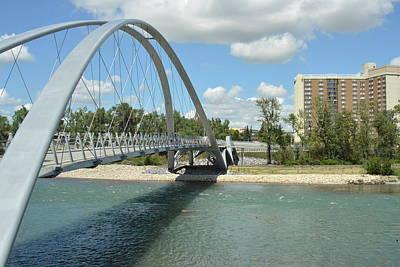 Photograph - Bow River Walking Bridge II by Nicki Bennett