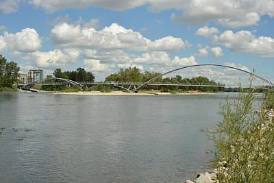 Photograph - Bow River Walking Bridge by Nicki Bennett