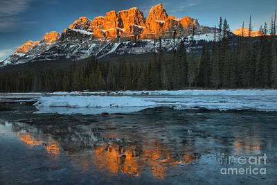 Photograph - Bow Valley Red Sunset Peaks by Adam Jewell