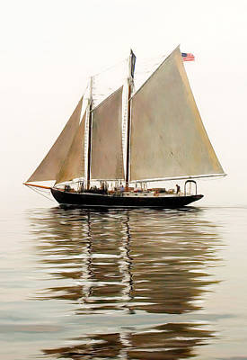 Windjammer Photograph - Bowditch by Fred LeBlanc