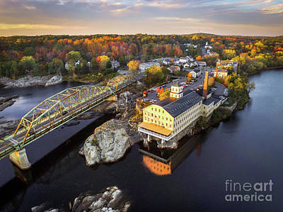 Androscoggin Photograph - Bowdoin Mill From Above by Benjamin Williamson