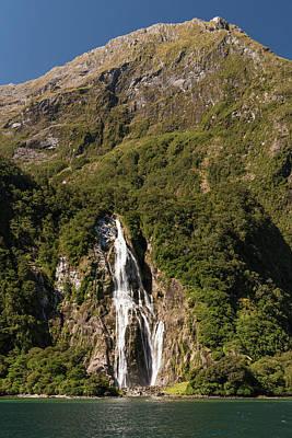 Photograph - Bowen Falls Milford Sound by Gary Eason