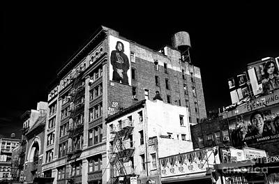 Photograph - Bowery Billboards by John Rizzuto