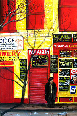 Bowery Art Print by Leonardo Ruggieri
