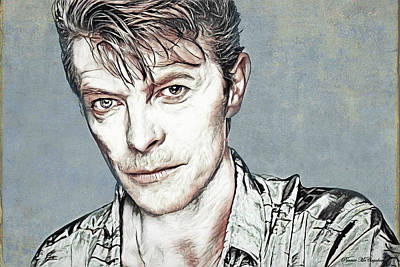 Digital Art - Bowie - A True Legend by Pennie McCracken