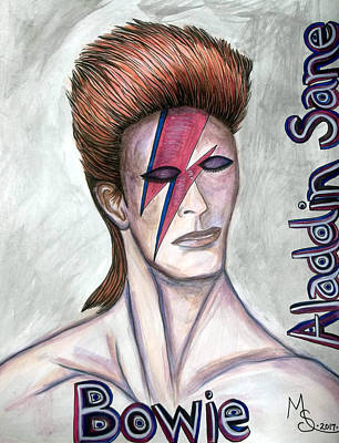 Painting - Bowie - Aladdin Sane by Absinthe Art By Michelle LeAnn Scott