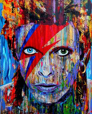 Painting - Bowie by Angie Wright