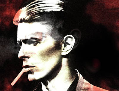 Duke Mixed Media - Bowie Changing  by Enki Art