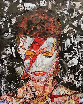 Bowie Collage Print by John Kerr