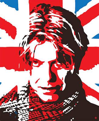 Digital Art - Bowie Flag by Gary Grayson