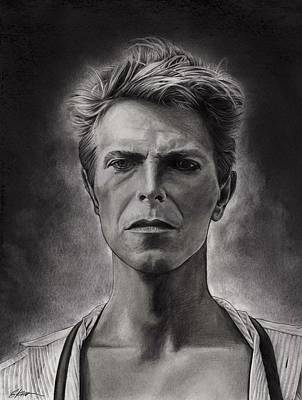 Spider Drawing - Bowie by Gary Kroman