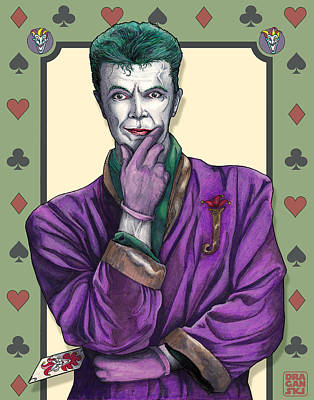 Bowie Joker Art Print by Edward Draganski