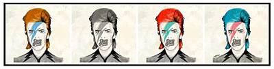 David Bowie Drawing - Bowie by Michael Spatola