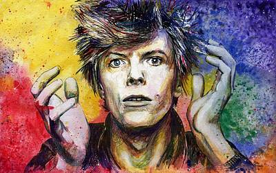 Rollingstone Painting - Bowie by Nate Michaels