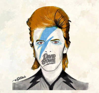 This Is England Digital Art - Bowie Orange by Michael Spatola