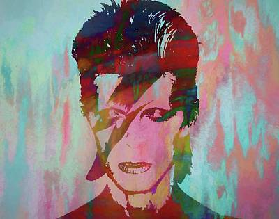 Pop Icon Mixed Media - Bowie Reflection by Dan Sproul