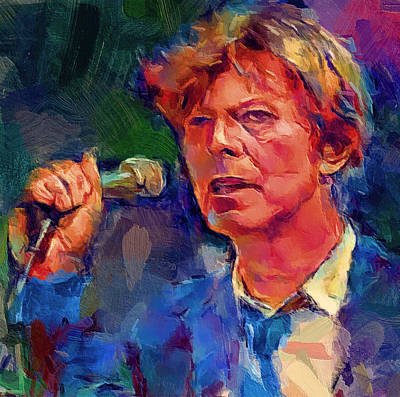 Enjoy Digital Art - Bowie Singing 2 by Yury Malkov