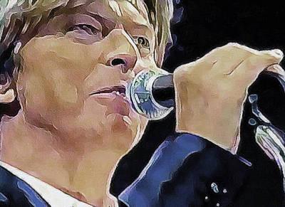 Digital Art - Bowie Singing by Yury Malkov