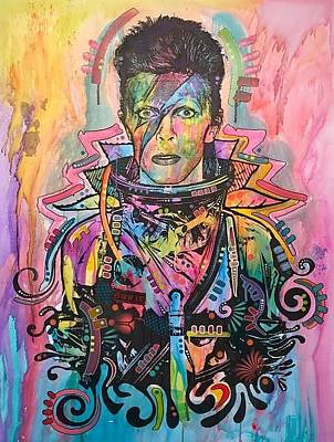 Mixed Media - Bowie Spaceman by Dean Russo