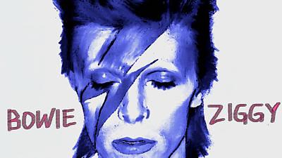 Rock N Roll Painting - Bowie Ziggy by Enki Art