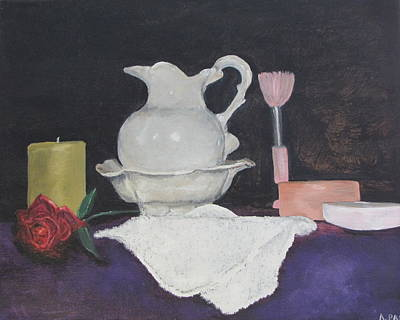 Painting - Bowl And Pitcher by Aleta Parks