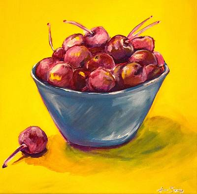Bowl Of Cherries Original by Anne Seay